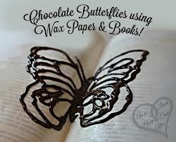 chocolate designs on wax paper - Google Search