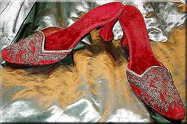 Pumps Mule ball or Fancy 1880s Turkish Red Turkey Beautiful
