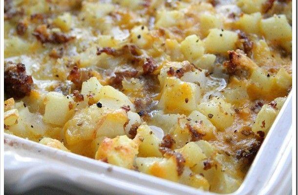 Ultimate Cheesy Breakfast Casserole | Food | Pinterest