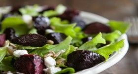 Maple Roasted Beet and Goat Cheese Salad | Crazy for Salads | Pintere ...