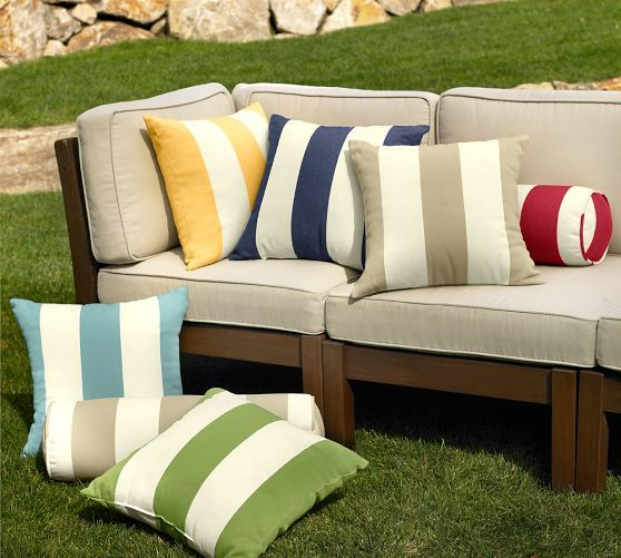 PB Classic Stripe Indoor Outdoor Pillow