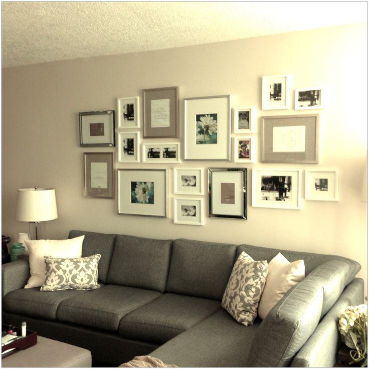 Gallery wall arrangement home decor pinterest - Picture arrangements on wall ...