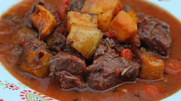 Beef Stew with Bacon and Butternut Squash