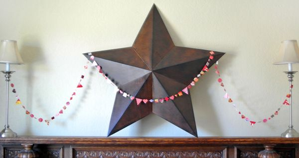 Upcycled Valentine's Day banner