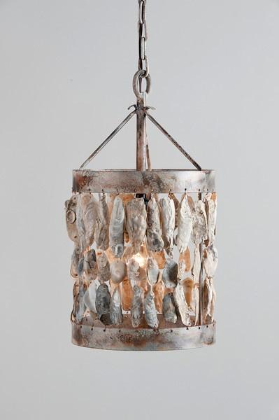 Oyster Shell Light Fixture Coastal Living Pinterest