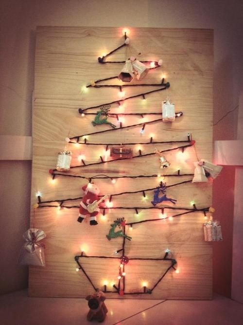 String Lights On Artificial Christmas Tree : Light String on Wood Tree #christmas Artificial Christmas Trees P?