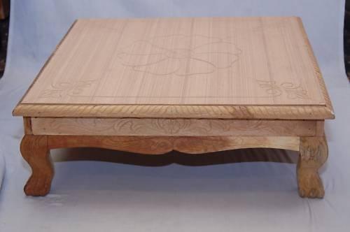 Wooden chowki pooja desk bajoth stool patalo