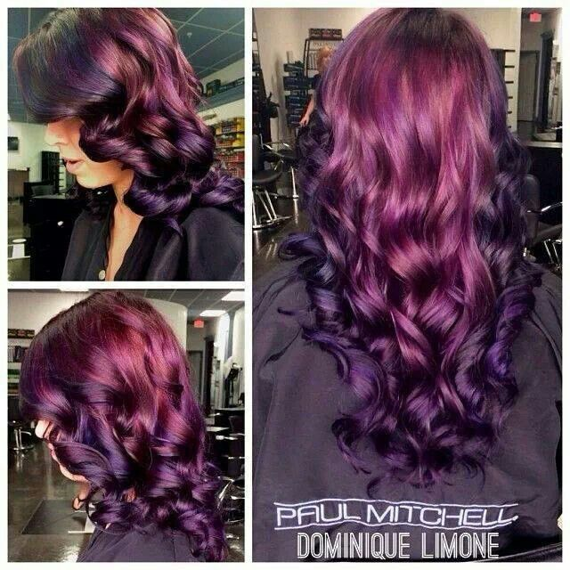 Red purple hair color | beauty and fitness | Pinterest