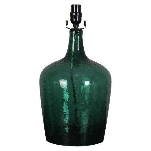 threshold artisan glass jug lamp base green large. Black Bedroom Furniture Sets. Home Design Ideas