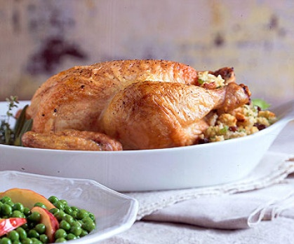 Roast Chicken With Cornbread And Sausage Stuffing Recipe ...