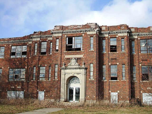 Abandoned indiana school abandoned pinterest - The house in the abandoned school ...