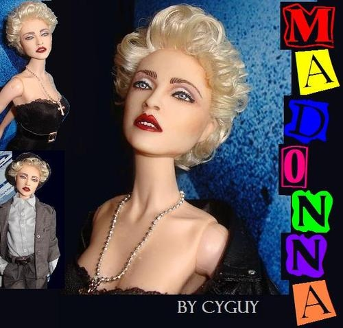 OOAK Madonna True Blue Glamour Barbie Doll Stunning Artist Repaint Reroot Fr