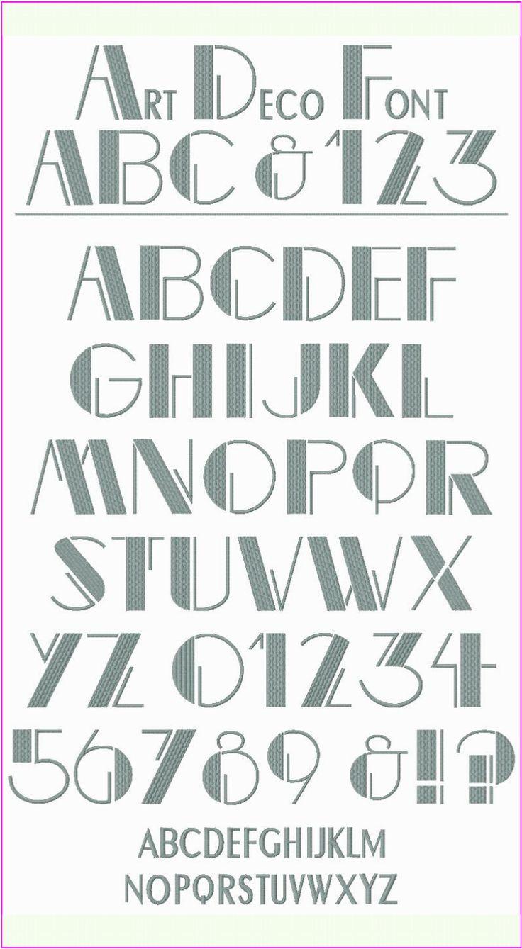 Art Deco Fonts Styles Pinterest