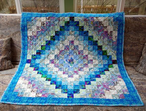 Quilted Wall Hanging Lap Quilt Throw Blanket Trip