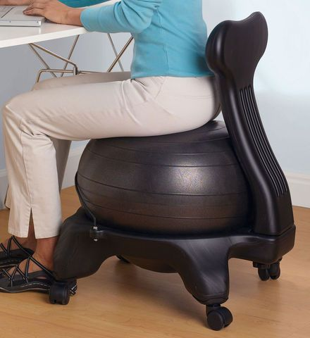Exercise Ball Chair The Benefits Of Sitting On An Exercise Ball While ... Ball Chair. ~√~ This attactive chair promotes active sitting while