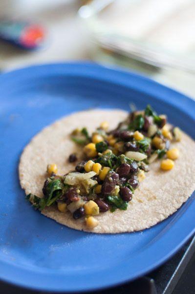 Black Bean, Corn, & Kale Enchiladas