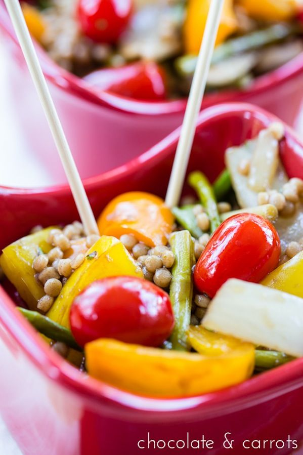 Summer Couscous Stir Fry with summer vegetables #recipe #food # ...