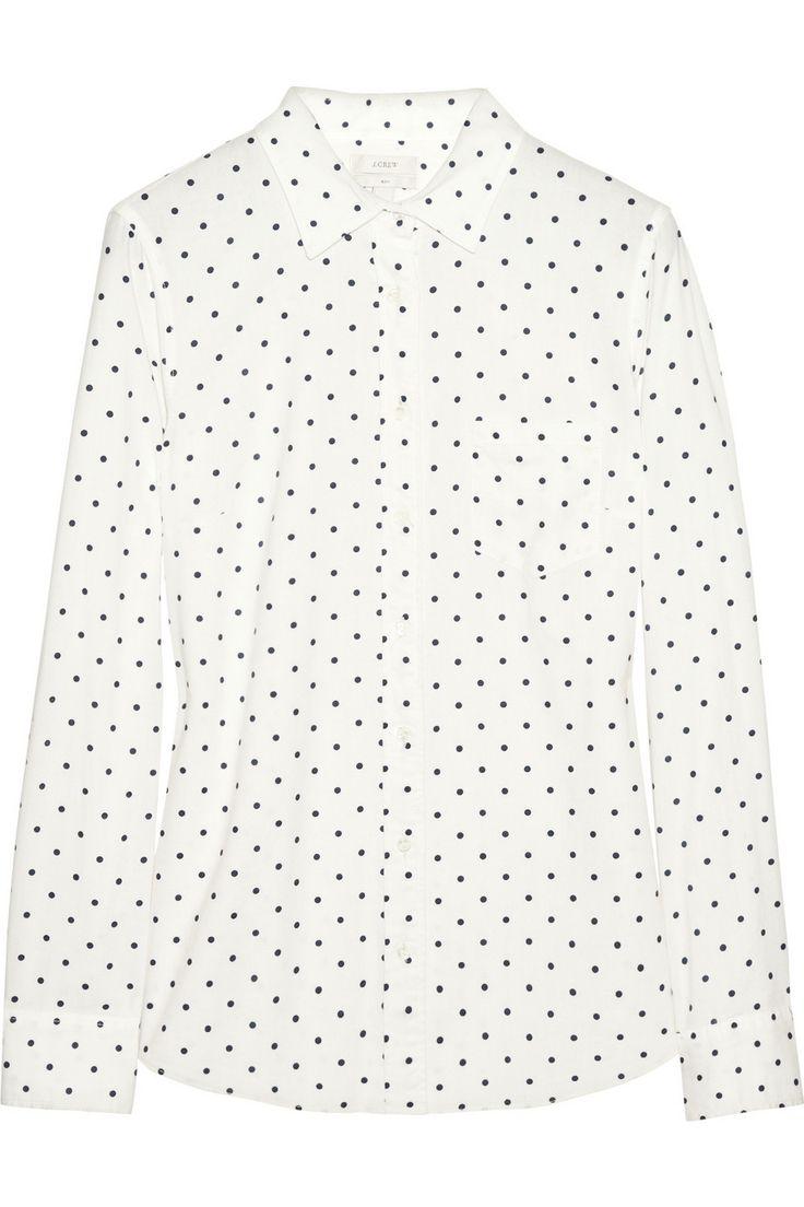 J.Crew|New Boy polka-dot cotton shirt|NET-A-PORTER.COM