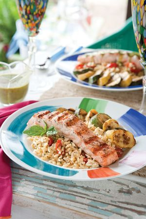 Grilled Salmon with Basil-Lime Butter Sauce. Southern Ldy Magazine