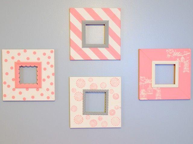 Pretty in Pink (DIY Nursery Picture Frames) - Restoration Redoux