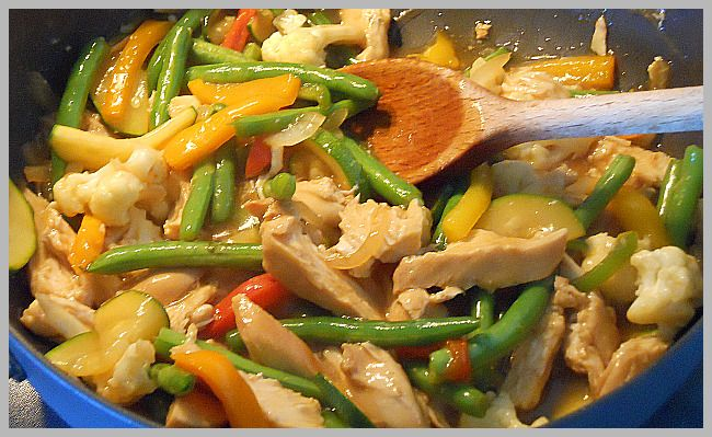 Chicken Vegetable Stir Fry, I make a big batch of this but use ...