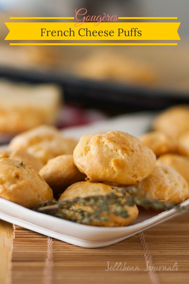 Gougères {French Cheese Puffs} Easy & impressive appetizer made with ...