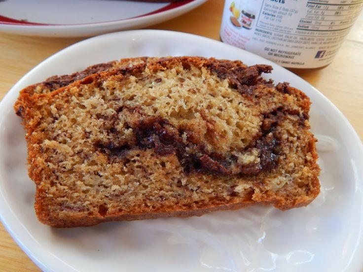 Nutella Swirled Banana Bread | Bread | Pinterest