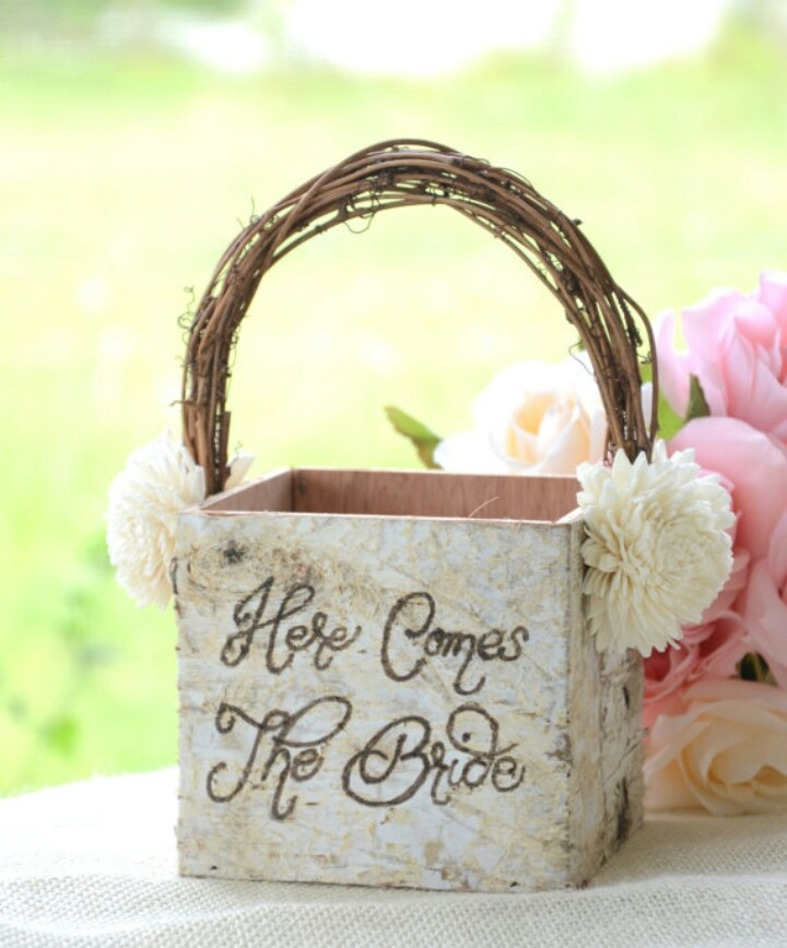 Flower Girl Baskets On Pinterest : Possible flower girl basket wedding ideas