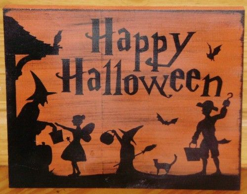 halloween sign for trick or treaters