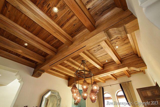 Cypress box beam ceiling ceilings pinterest for Box beam ceiling