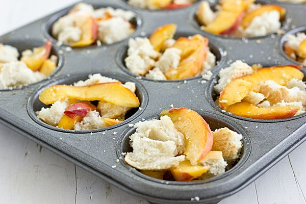 Recipe | Brown Sugar Peach French Toast Cups. These are sweet enough ...