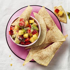 Spiced Tortillas with Tropical Fruit Salsa | Recipe