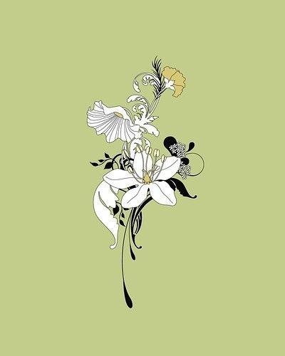 Art nouveau lily art nouveau and art deco pinterest - Art deco and art nouveau ...