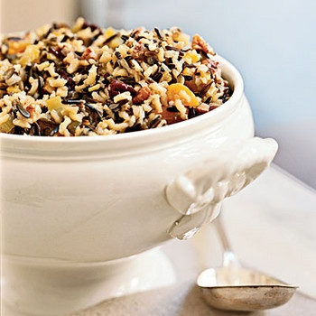 Healthy Thanksgiving. Wild Rice Stuffing