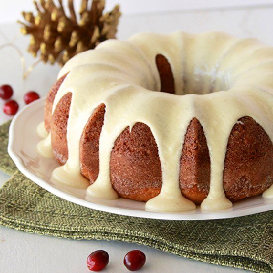 Cake with Egg Nog Frosting is a skinny moist and festive cake. Any egg ...