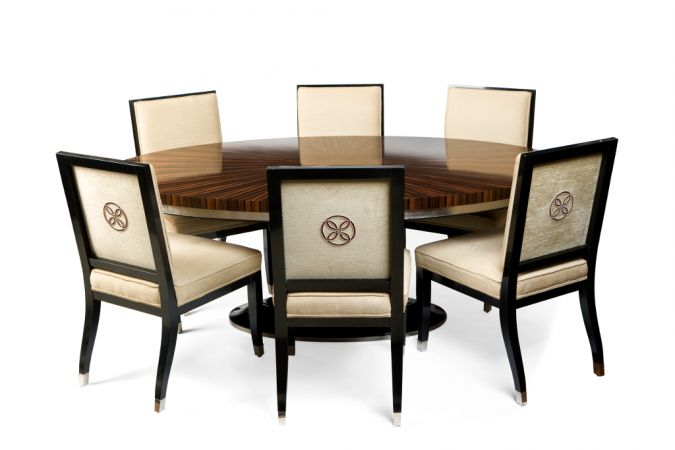 Art Deco Oval Dining Table Virtual Project Pinterest