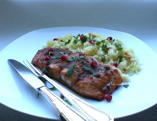 Salmon with Pomegranate Molasses Glaze | Something's Fishy | Pinterest
