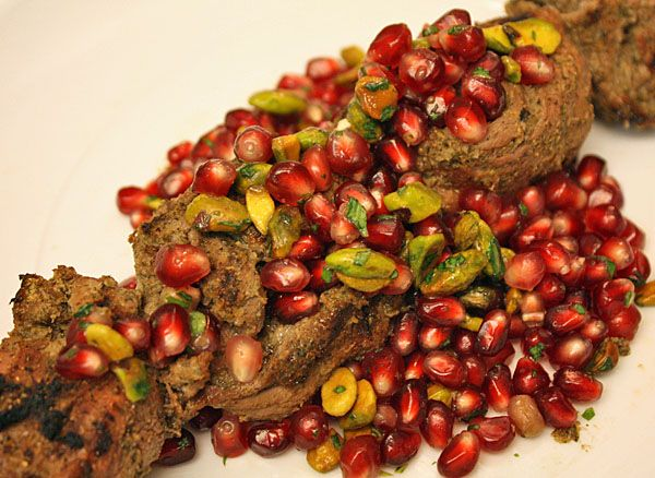 RECIPE: Marinated lamb kabobs with a pomegranate, pistachio, citrus ...