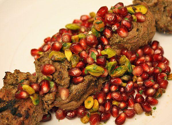 RECIPE: Marinated lamb kabobs with a pomegranate, pistachio, citrus ...