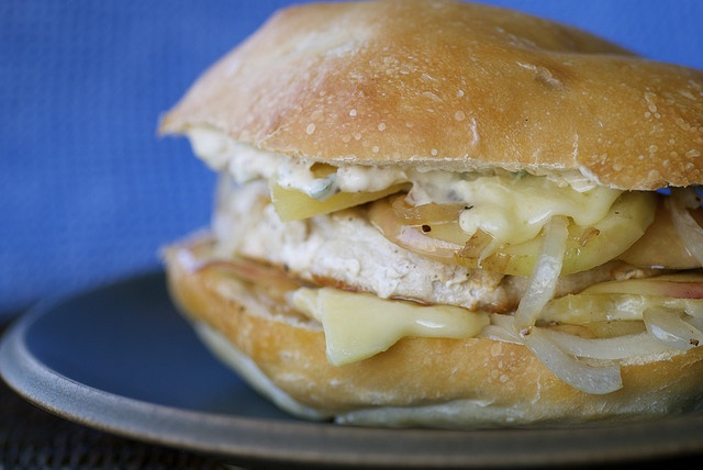 Delicious Turkey Burger with Apples, Gruyere, and Sage Mayo ...