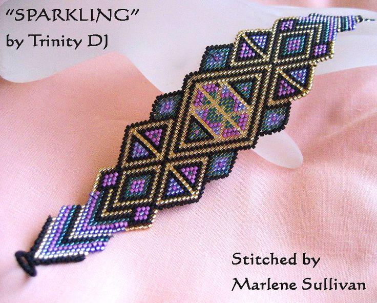 Free pattern for bracelet Sparkling by Trinity DJ