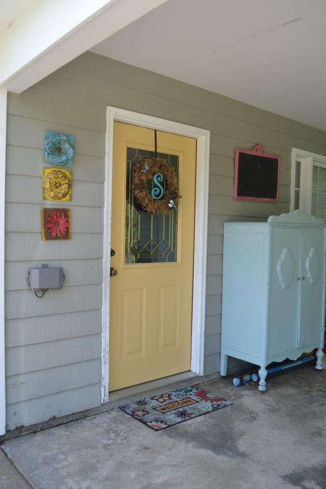 Yellow Front Door Yard Pinterest