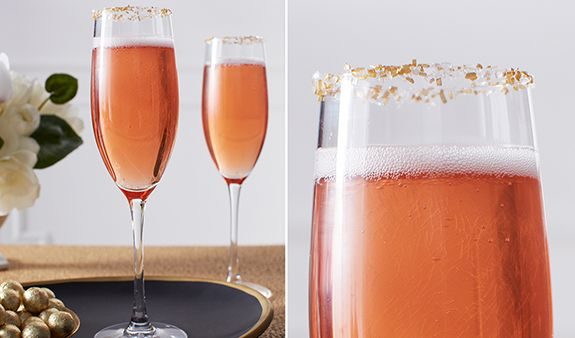 Pomegranate Champagne Punch | nom nom | Pinterest