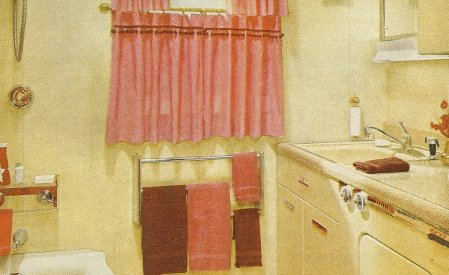1960s style bathrooms decorating with vintage pinterest for 1960s bathroom decor