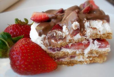 No - Bake Strawberry Ice Box Cake! So Fast and So Delicious!!!!
