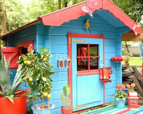 Whimsical garden shed Pools gardens decks other