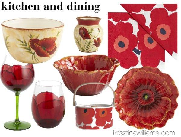 Poppy Wallpaper Home Interior : Red Poppy Home Decor