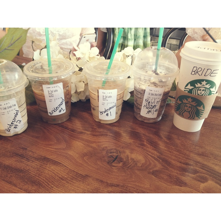 Wedding morning Starbucks