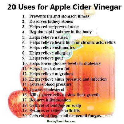 Apple Cider Vinegar Benefits Fit Fun Pinterest