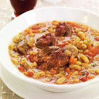 ... one is for Lesley :) Slow-cooked lamb shanks with cannellini beans